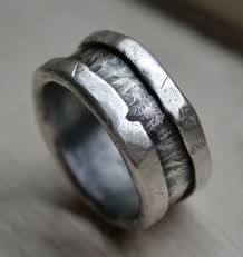 silver wedding bands best 25 handmade wedding rings ideas only on hammered