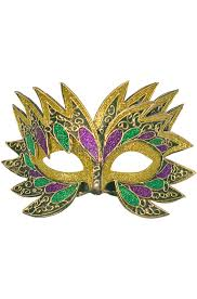masks for mardi gras fiery angel mardi gras mask gold purecostumes