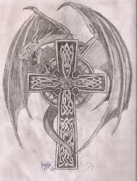 celtic cross dragon tattoo designs picture design idea