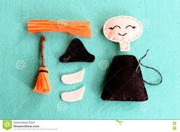 fun halloween sewing project for kids join the pieces of felt