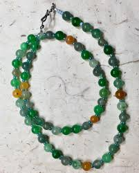 natural beads necklace images 19 inch beaded necklace natural gemstone beads green women 39 s jpg