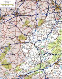 Virginia State Map With Cities by Highway And Road Of West Virginiafree Maps Of Us