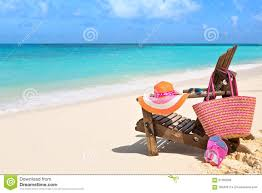 flip flop chairs chair with bag hat flip flops and sunglasses on t
