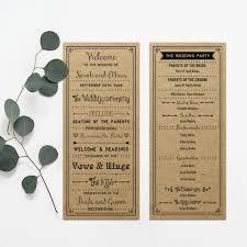 tea length wedding programs programs archives mountain modern