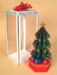 card craft card making templates 3d christmas tree by card