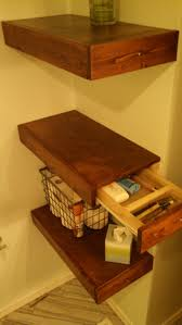 Floating Shelves Wood Plans by Best 25 Floating Shelf With Drawer Ideas On Pinterest Floating