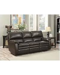 Contemporary Reclining Sofa With Topstitch by Savings On Crawford Leather Motion Sofa
