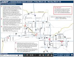 Phx Map Adot Weekend Freeway Travel Advisory March 10 13 3tv Cbs 5