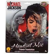 michael jackson halloween costume amazon com rubie u0027s costume mj microphone headpiece toys u0026 games