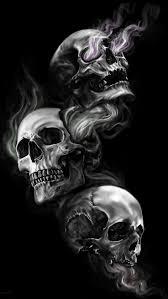hear no see no speak no evil skulls with bandana tattoos