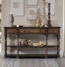 Decorative Laminate Flooring A Captivating Wood Console Table With Drawers And Shelves Along