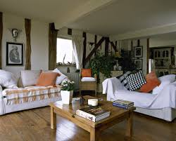 orange white country living room country living rooms basement