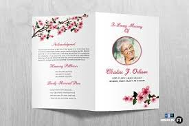 funeral program template funeral program template brochure templates creative market
