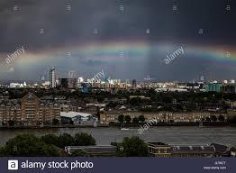 uk 25th june 2016 uk weather colourful rainbow breaks