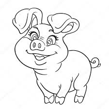 cute baby pig coloring pages