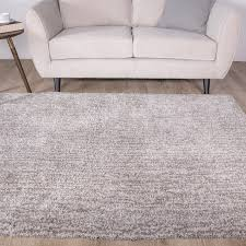 luxurious supersoft thick grey shaggy rug kukoon