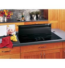 Electric Cooktop With Downdraft Ventilation Ge Profile 36