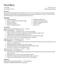 Best Information Technology Resume Templates by Best Service Technician Resume Example Livecareer