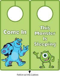 door hanger monsters door hangers free printable ideas