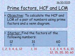 prime factor trees and hcf lcm by amybeverage teaching resources