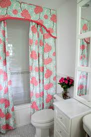 All In One Bathtub And Shower Decoration Ideas Cool Green And Pink Pattern Valance And One