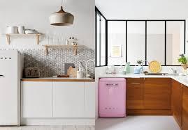cuisine frigo stunning cuisine noir mat et bois contemporary design trends 2017