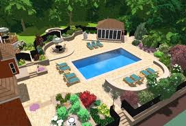 Swimming Pool Landscape Designs Nightvaleco - Swimming pool backyard designs