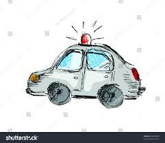 cartoon police car free hand drawing stock vector 96845809