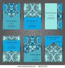 Business Cards Front And Back Set Stylish Business Card Template Abstract Stock Vector 518799163