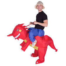 inflatable dragon ride me dinosaur carry on welsh fancy