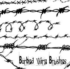 barbed wire brushes by roses on deviantart