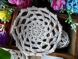 napperon de cuisine ronde dentelle coton table napperon tissu crochet napperon pad