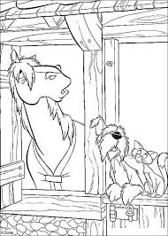 101 dalmatians horse dog cat coloring