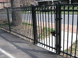 metal fence gate ornamental steel fence residential grade metal