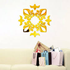 mirror decals home decor uncategorized decorative wall stickers for elegant 3d modern