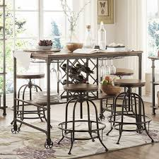 bar height table industrial tribecca home berwick industrial style counter height pub dining set