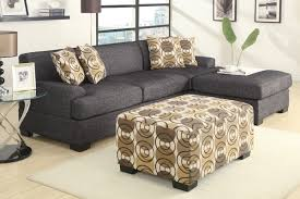 Light Brown Ottoman by Fascinating Furniture For Living Room Decoration Using Black And