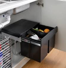 kitchen cabinet waste bins the wesco shorty internal waste bin with two bin compartments has