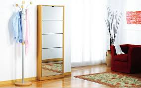 Hallway Shoe Storage Cabinet Designs Ideas Tall Modern Wooden Shoe Cabinet Near Standing Coat
