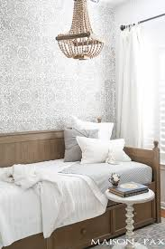 rustic feminine neutral little room with daybed maison de pax