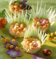 cuisine de paques petits nids de pâques à la noix de coco les meilleures recettes de