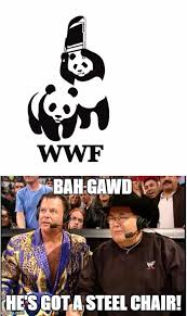 Wwf Meme - image tagged in jim ross jerry lawler wwf steel chair panda imgflip