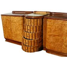 art deco exotic burl and onyx sideboard buffet at 1stdibs