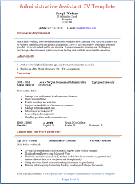 administrative assistant resume template administrative assistant cv template page 1 preview careers