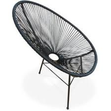 acapulco chaise ensemble de 2 fauteuils acapulco chaise oeuf design rétro cordage