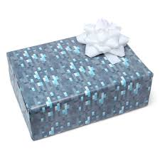 diamond ore wrapping paper minecraft pixels gift wrap craft 3