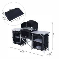 aosom outsunny 6 u0027 deluxe portable fold up camp kitchen with