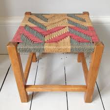 woven stool aztec small stool with wooden legs and great aztec