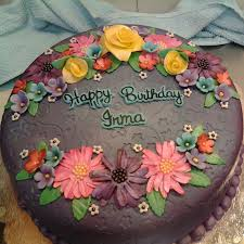birthday flower cake happy birthday flower cake made flowers with airbrushed