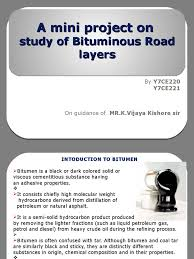 a mini project on bituminous road layers asphalt road surface
